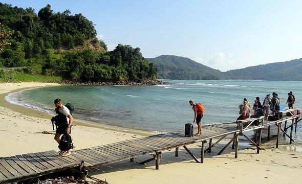 Jetty near Usukan Cove Lodge, Kuala Abai, Kota Belud, Sabah, Malaysian Borneo