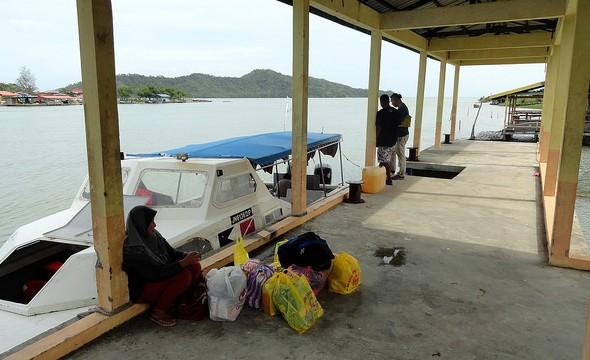 Mari Mari Boat at Kuala Abai Jetty, Kota Belud, Sabah, Malaysian Borneo