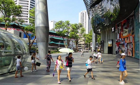 View of Orchard Road in front of ION Orchard Mall, Singapore