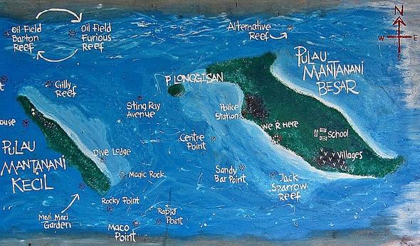 Mantanani Island Map
