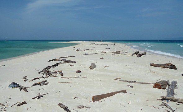 Sandbank at the Southern Tip of Mantanani Island, Sabah, Malaysian Borneo