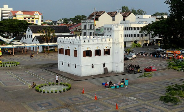 Square Tower, The Waterfront, Kuching, Sarawak, Malaysian Borneo