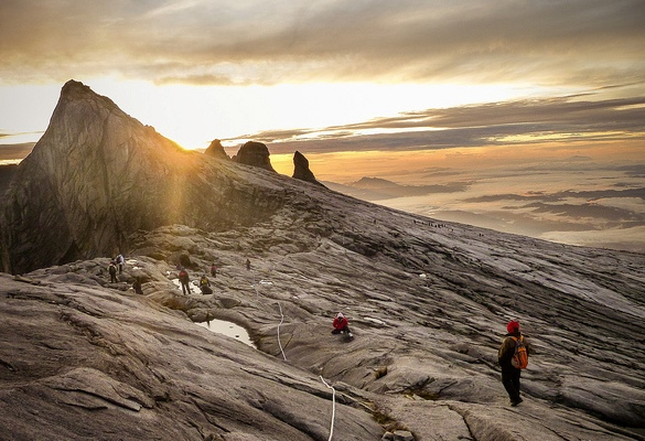 Sunrise Descent, Mount Kinabalu, Sabah, Malaysian Borneo