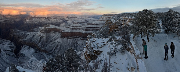Winter Day Sunset from Yavapai Point, South Rim, Grand Canyon National Park, Arizona