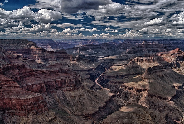 Clouds over the Grand Canyon, Arizona