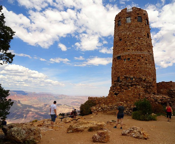 Desert View Watchtower, Desert View, South Rim, Grand Canyon National Park, Arizona