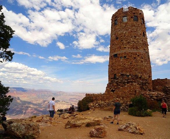 Desert View Watchtower, Desert View, South Rim, Grand Canyon National Park, Arizona