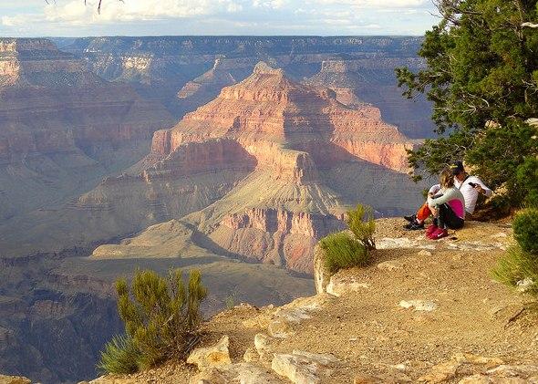 Grand Canyon, Escursione sul Rim Trail da The Abyss a Hopi Point