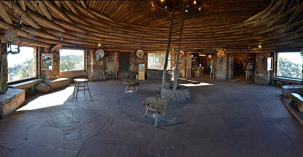 Interior of Desert View Watchtower Kiva Room, South Rim, Grand Canyon National Park, Arizona