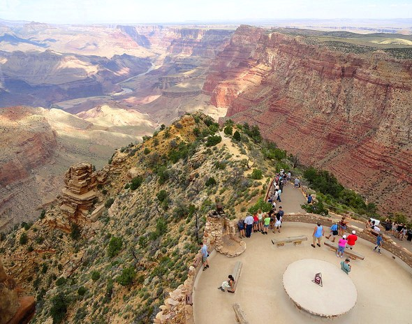 Panorama from Desert View Watchtower, South Rim, Grand Canyon National Park, Arizona