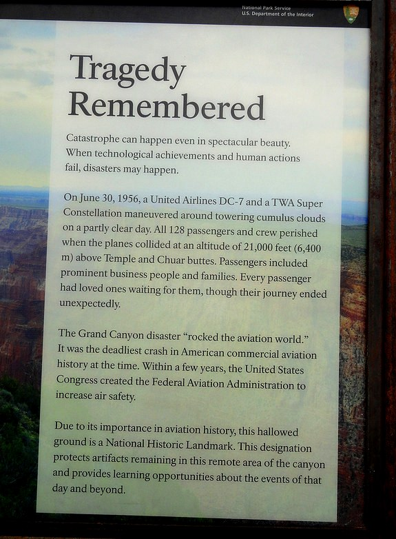 Tragedy Remembered, Desert View, South Rim, Grand Canyon National Park, Arizona