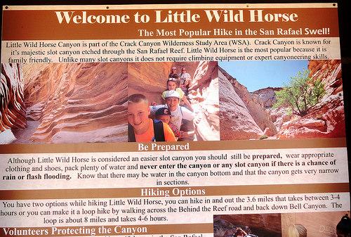Bell and Little Wild Horse Slot Canyon Trailhead, San Rafael Swell, Utah
