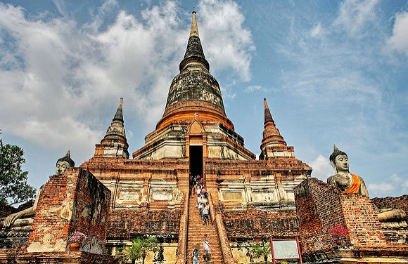 Guided Tour to Ayutthaya from Bangkok Visiting Wat Yaichaimongkon, Thailand
