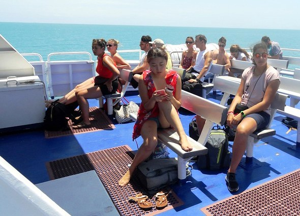 Aboard Lomprayah High Speed Ferry Travelling from Koh Tao to Tapee Pier in Surat Thani, Thailand