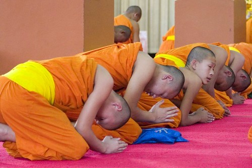Monks, Wat Phra Sing, Chiang Mai, Thailand