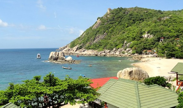 Tanote Bay, a Very Nice Beach in Koh Tao, Thailand