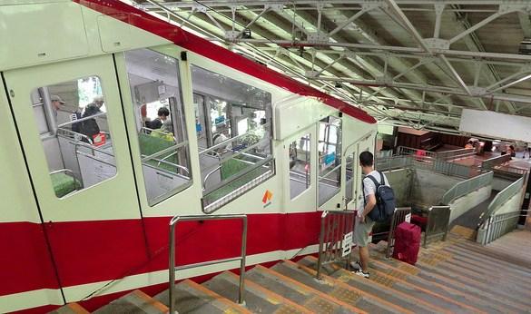 Boarding the Cable Car at Gokurakubashi, Koyasan, Japan
