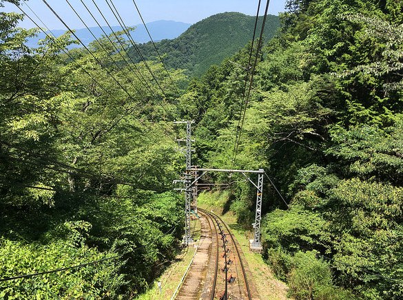 Cable Car from Gokurakubashi to Koyasan, Japan