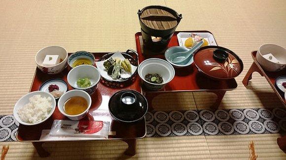 Dinner at the Shobuko, Koyasan, Japan