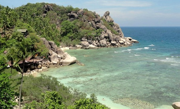 Freedom Beach from the Top of the Hill, Koh Tao, Thailand