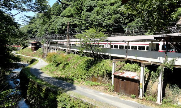 Gokurakubashi Station from Cable Car Station, Nankai Koya Line, Koyasan, Japan