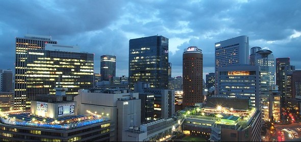 Umeda District in the Early Evening, Osaka, Japan
