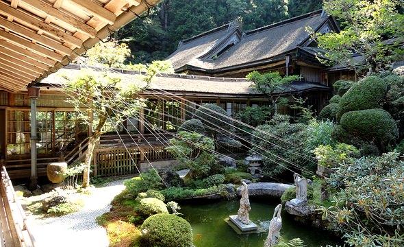 Inside Kongo Sanmai-in Temple, Koyasan, Japan