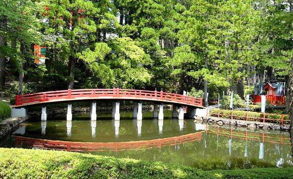 Japanese Bridge, The Garan Complex, Koyasan, Japan