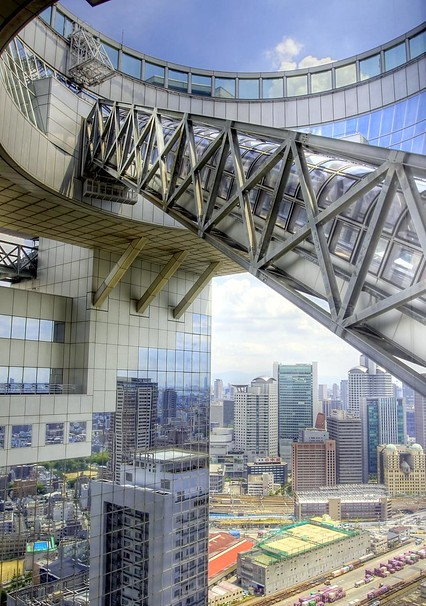 Mid-air Escalator to the Upper Floors, Umeda Sky Building, Osaka, Japan