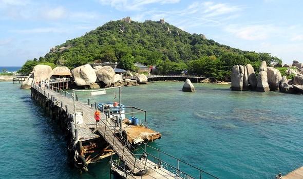 Pier at Nang Yuan Island, Koh Tao, Thailand
