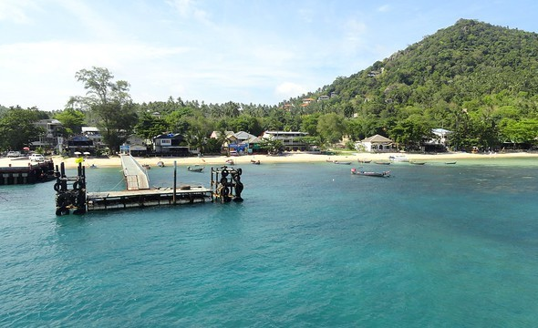 Piers at Mae Haad Bay, Koh Tao, Thailand