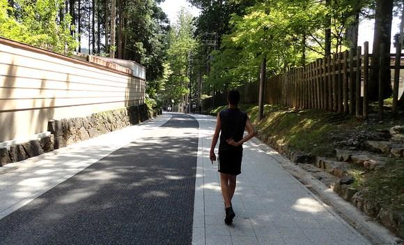 Quiet Street in Koyasan, Japan