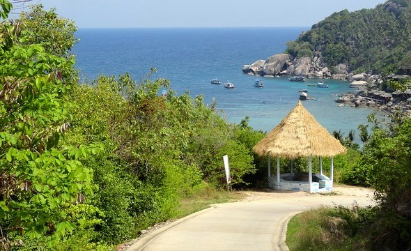 Road to Sai Daeng Beach, Koh Tao, Thailand