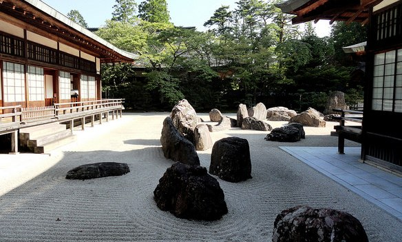 Main Rock Garden, Kongobu-ji Temple, Koyasan, Japan