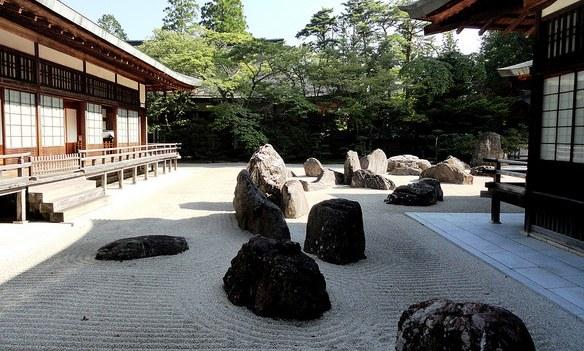 Main Rock Garden, Kongobu-ji Temple, Koyasan, Japan
