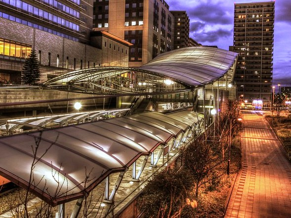 Universal City Station, JR Yumesaki Line (JR Sakurajima Line), Osaka Bay Area, Osaka, Japan