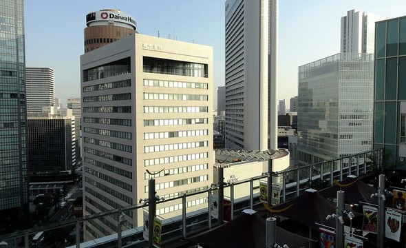 View of Central Umeda Area from Sun Plaza, 16th Floor, South Gate Building, Osaka Station City, Osaka, Japan