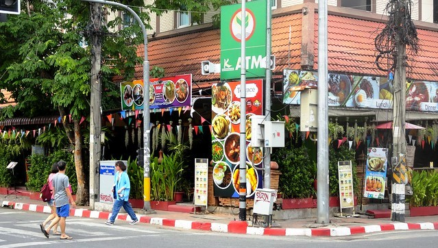 Corner Rachadamnoen Road and Prapokkloa Road, near Wat Chedi Luang, Old City, Chiang Mai, Thailand