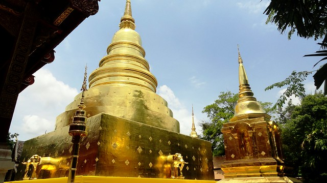 Golden Chedi at Wat Phra Sing, Old City, Chiang Mai, Thailand