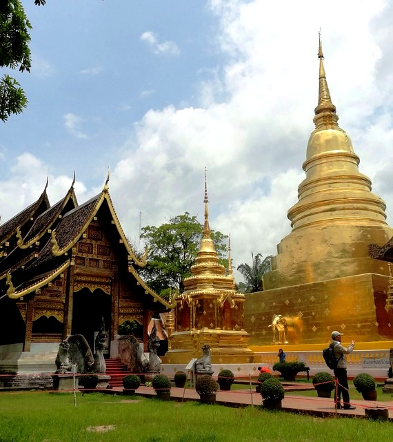 Visiting Wat Phra Singh, Chiang Mai, Thailand