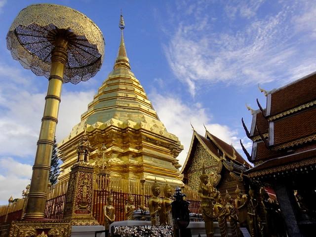 Visiting Wat Phrathat Doi Suthep, near Chiang Mai, Thailand