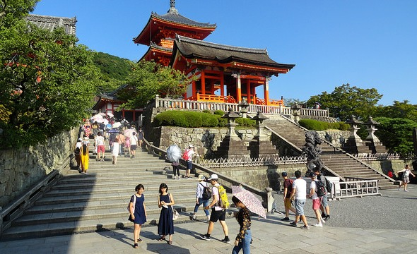 Entrance to Kiyomizudera Temple, Central Higashiyama, Kyoto, Japan