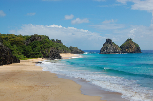 Beaches in Fernando de Noronha, Brazil