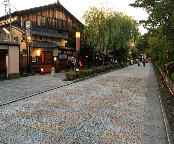 Gion at Sunset, Kyoto, Japan