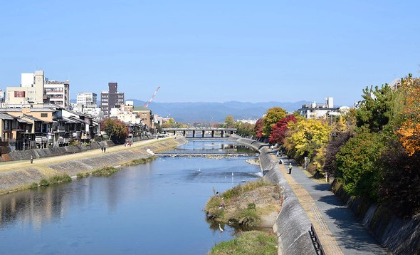 Kamo River, between Kyoto City Center and Higashiyama, Kyoto, Japan