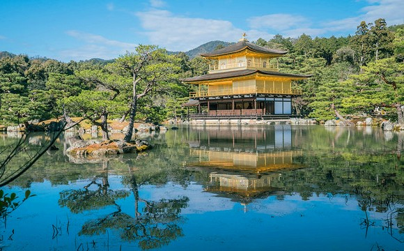 Kinkakuji Temple or Golden Pavilion, North Kyoto, Japan