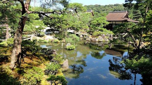 Moss Garden, Ginkakuji Temple (Silver Pavilion), North-eastern Higashiyama, Kyoto, Japan