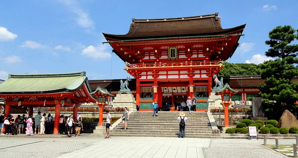 Romon Gate, Shrine's Entrance, Fushimi Inari, Southern Kyoto, Japan