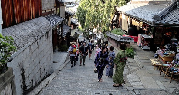 Sannenzaka, Central Higashiyama, Kyoto, Japan