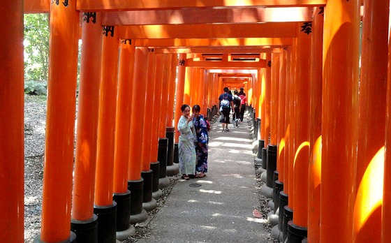Selfie, Fushimi Inari Shrine, Southern Kyoto, Japan